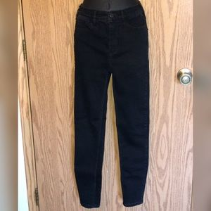Free People High Wasted Black Skinny Jeans